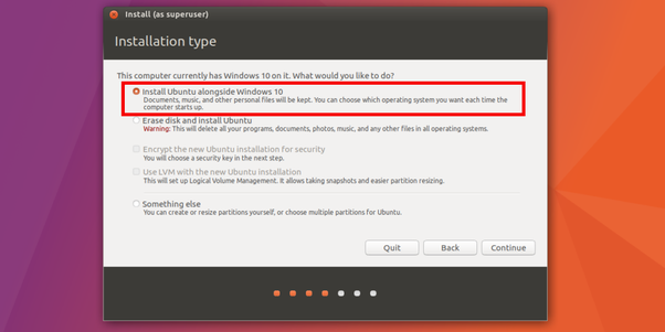 How to install ubuntu alongside my windows 10 laptop - Quora