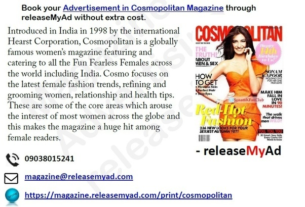 Wonderful Just Open Book Cosmopolitan Magazine Advertising Via ReleaseMyAd, Online Ad  Booking Portal Of ReleaseMyAd And Choose Your Desire Page To Place Your Ads,  ...