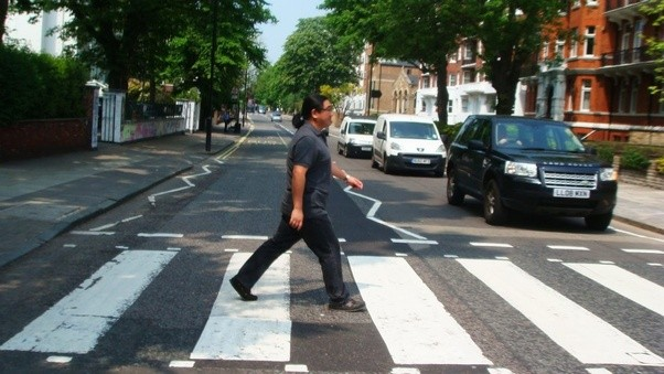I Went To Abbey Road Just Have My Photo Taken Crossing The Street But Is Now A Place For Peregrination Beatles Fans From All Over