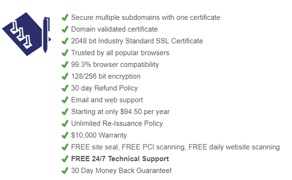 What is the difference between positive SSL Wildcard and Essential ...