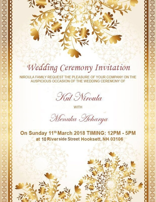 In A Wedding Reception Invitation Card Which Format Is Right Mr