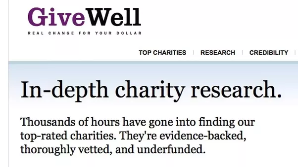 Give Well Is Another Charity Evaluation Organization Which Evaluate Charity  Organizations World Wide. It Provides Different Details About Your  Different ...