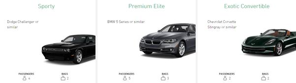 what standard models does enterprise rent a car offer quora. Black Bedroom Furniture Sets. Home Design Ideas