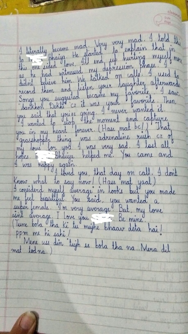 Erotic pre written love letter