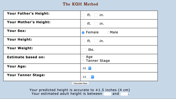 Adult height predictor — pic 2