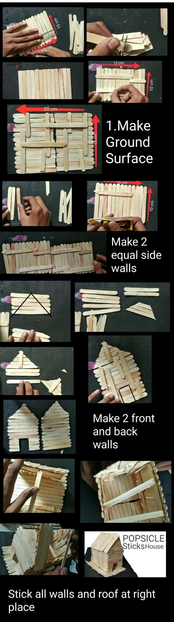 How to make a house out of popsicle sticks - Quora