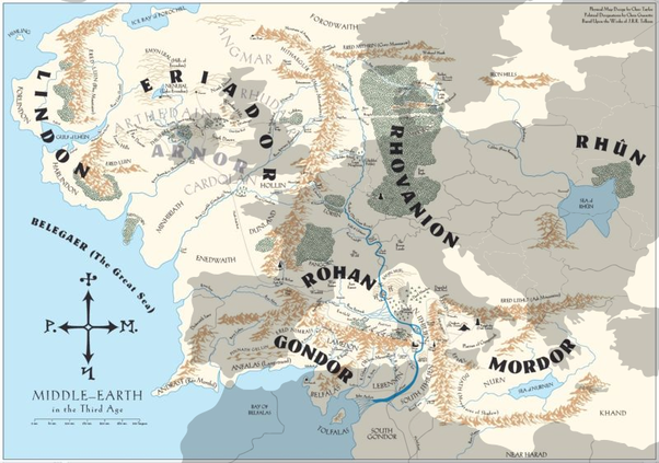How big is middle earth compared to a real world continent quora the eastern part of me is not really explored but the area covered in the maps are the rough size of 23 of usa or a bit larger than europe gumiabroncs Gallery