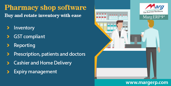 Which software do most of the pharmacies use in India to