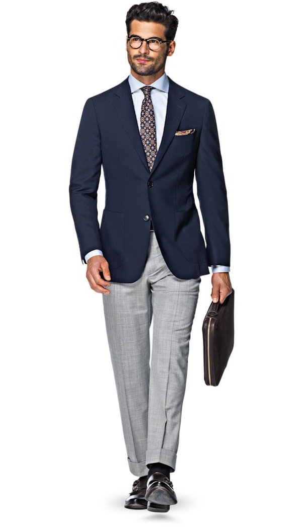 Colour trousers what blazer with grey The Best