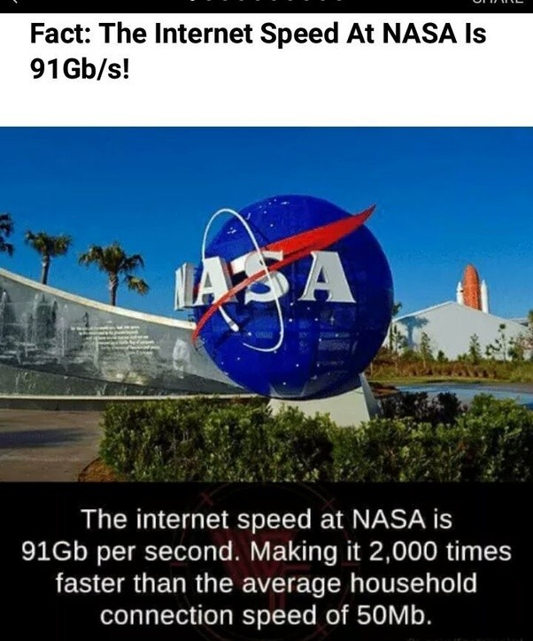 What Is The Internet Speed At Nasa Quora