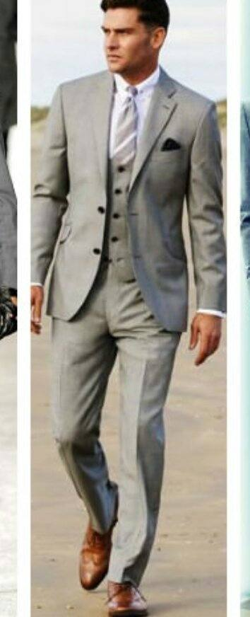 What shade of grey (suit) looks best with brown shoes? - Quora