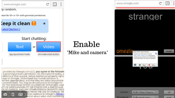 How to video chat on omegle mobile