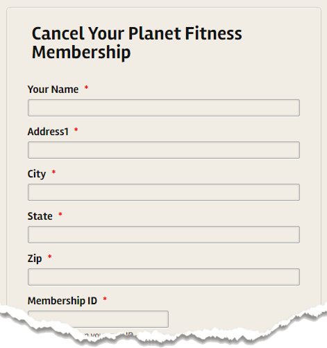 planet fitness cancellation form How to cancel a membership permanently at Planet Fitness - Quora