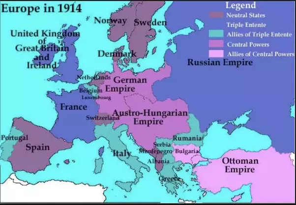 What would the world look like today if ww1 never happened quora the pre wwi map of europe would have been unchanged gumiabroncs Images