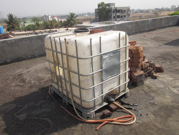 Can I Place 2 Water Tanks 1000 Liters On A Slab Which Is Supported By Load Bearing Walls Quora