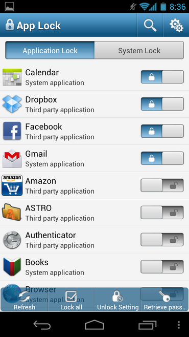 Is there a pattern lock set to all apps? - Quora