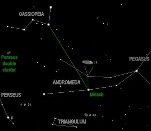 Is the Andromeda Galaxy visible anywhere in India through