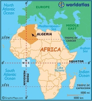What is the biggest country in africa quora algeria shown on a map located in north africa gumiabroncs Images