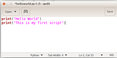 how to run python script in linux