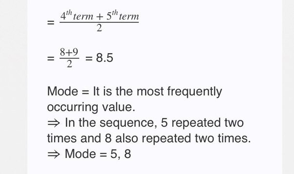 What Are The Formulas For Meanmedian And Mode In Statistics Quora