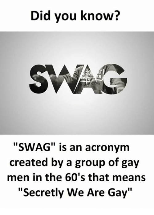 What Does Swag Mean Gay