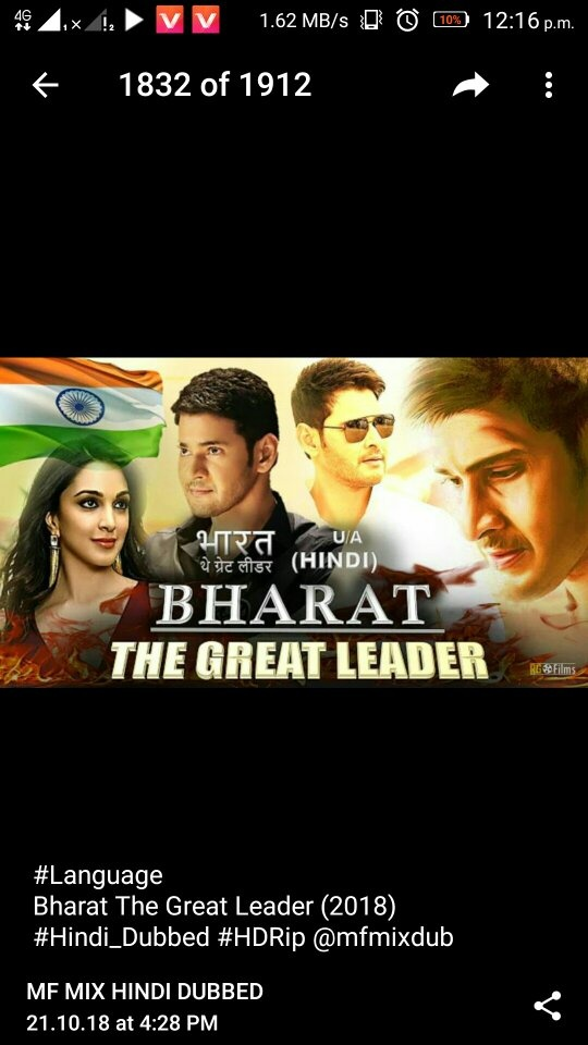 When will the Bharat Ane Nenu film be released in Hindi dubbed? - Quora