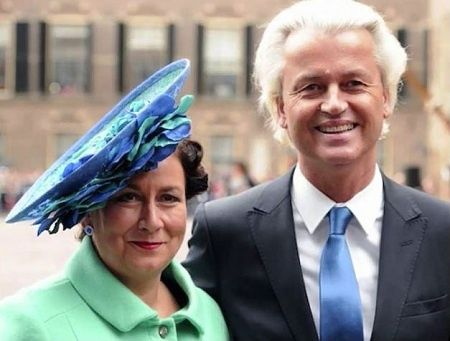 Geert Wilders with sweet, Wife Krisztina Marfai