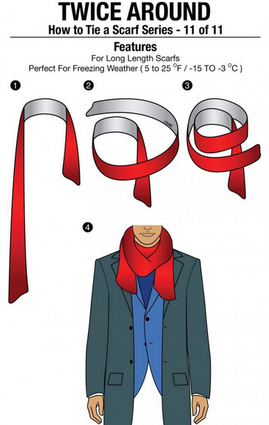 how to wear a scarf in different fashionable ways