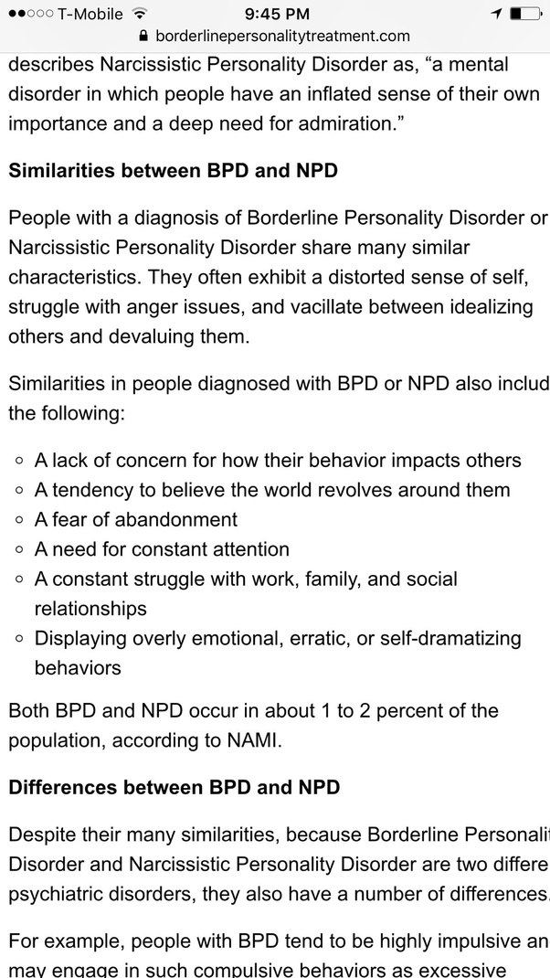 Borderlines and narcissists relationships dating