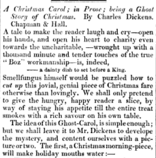 christmas carol was published in the literary magazine the atheneum on saturday december 23 1843 issue 843 just four days after the book was - A Christmas Carol Full Text