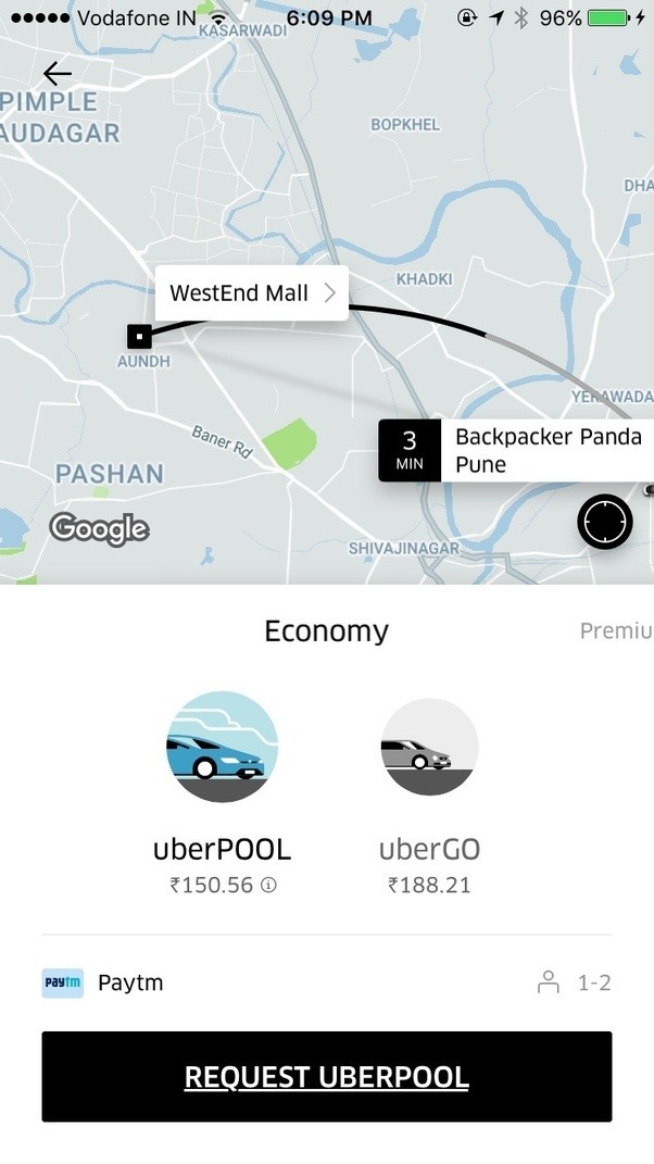 how to change destination on uber