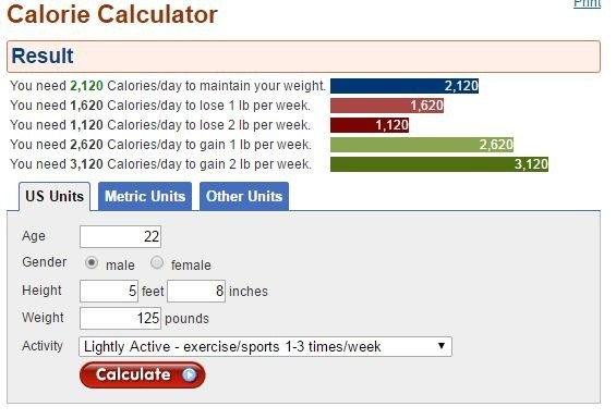 American Cancer Society Calorie Counter