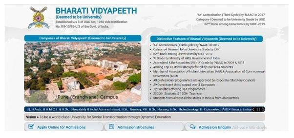Why did Bharati Vidyapeeth Deemed University postpone the