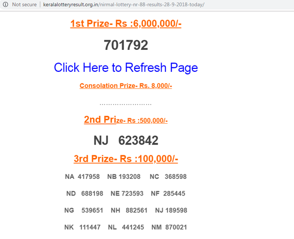 How to guess the Kerala lottery number - Quora
