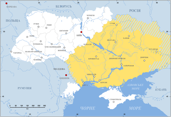 people talk more russian in cities and more ukrainian in villages this divide has deep historic roots