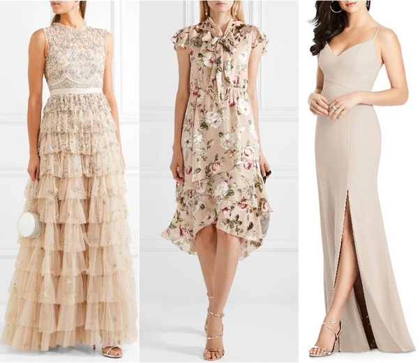 17c2864f82d3 What color shoes should I wear with a beige dress  - Quora