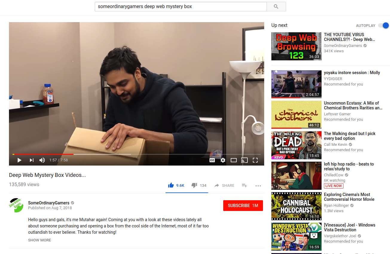 What do you think of YouTubers claiming to purchase mystery boxes