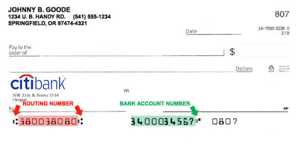 how to read a bank check routing number