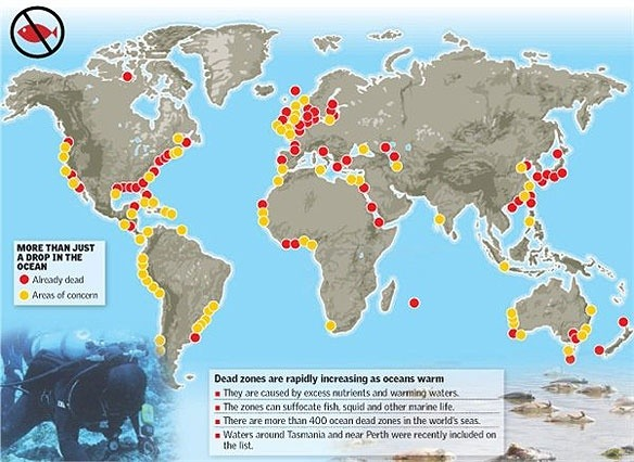What Are The Causes Of Dead Zones In The Worlds Waterways Quora - World waterways map