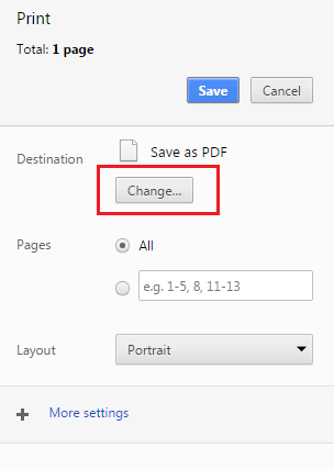 In the pop up dialogue, choose the Save as PDF option.