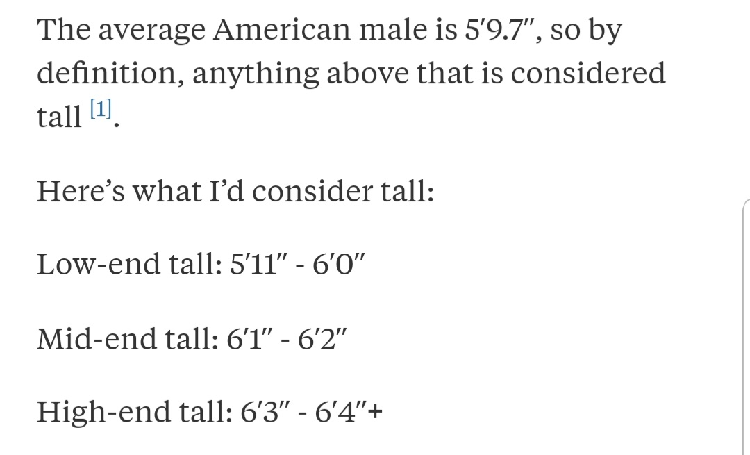 what height is considered tall for a girl