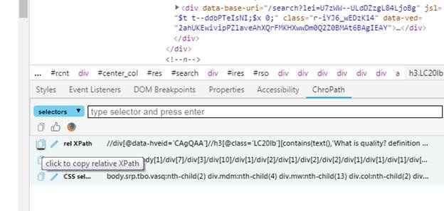 Is there any tool to get the correct XPath? - Quora