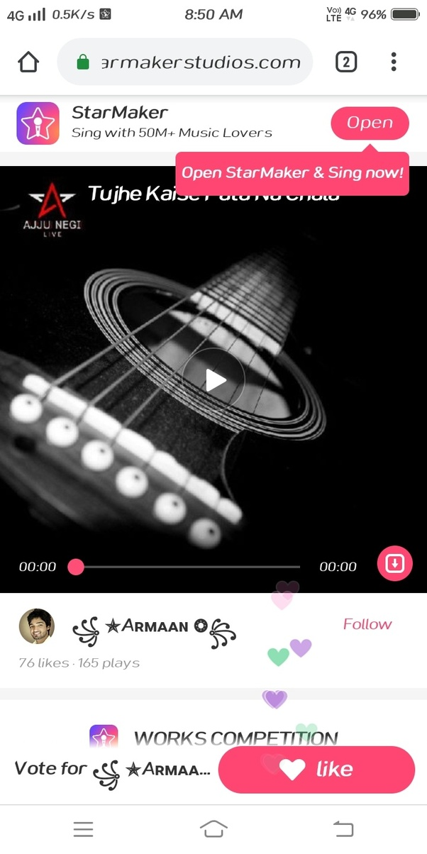 How can we download songs from StarMaker, and upload them on
