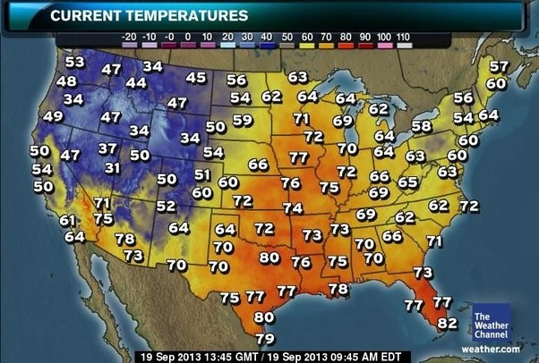 Where can I get a high-resolution real-time temperature map of the ...