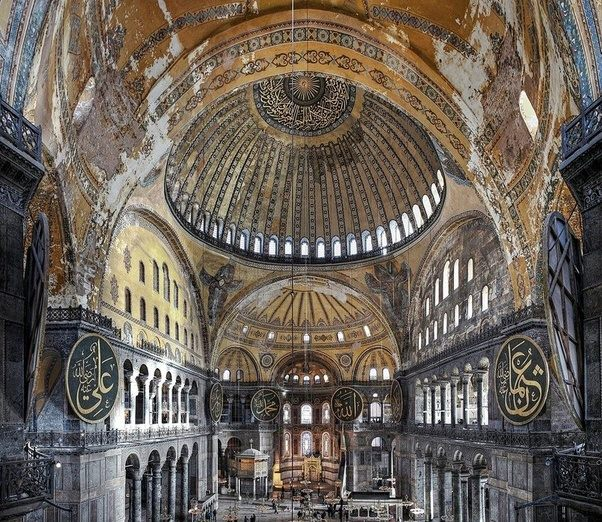 how did the byzantines build domes quora
