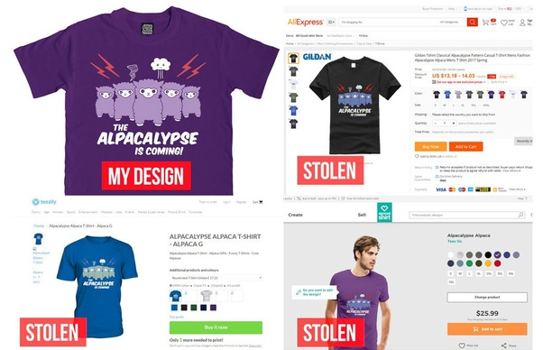 T Shirt Design Copyright | A T Shirt Design I Ve Been Selling For A Year Is Being Copied