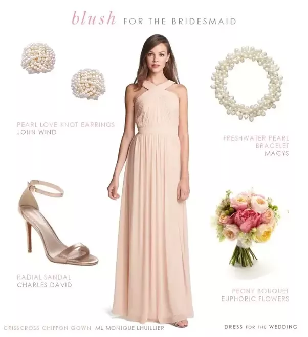 Pink dress rose gold shoes
