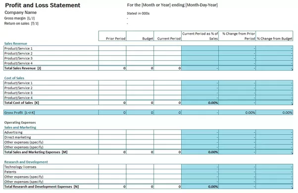 You Can Download Free Profit U0026 Loss Statement Template Provided By  InvoiceBerry. It Is A Simple And Well Designed Template That Should Help  You To Make Pu0026L ...  How Do I Make A Profit And Loss Statement