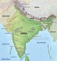 Why is the political map of India coloured with different colours ...
