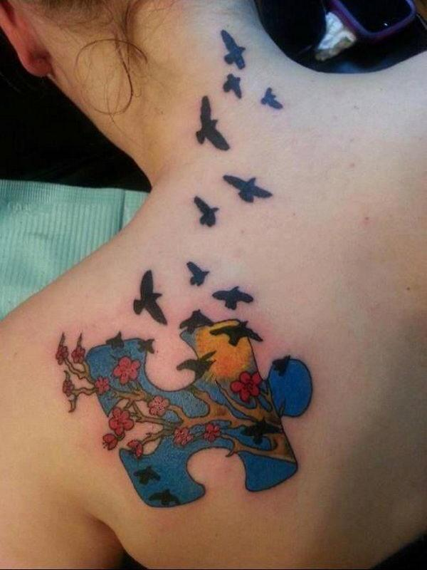 What Are Some Cool Autism Puzzle Tattoo Designs Quora